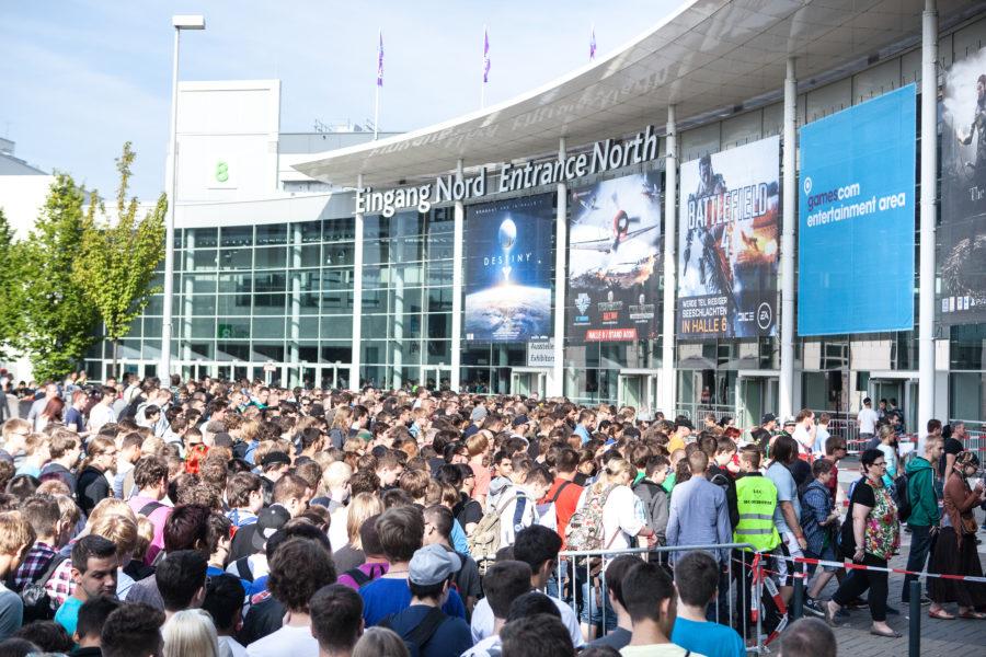 Der Nord-Eingang der Gamescom.